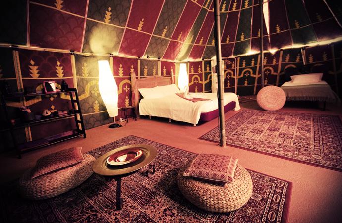 Sahara tent, Villa Azul