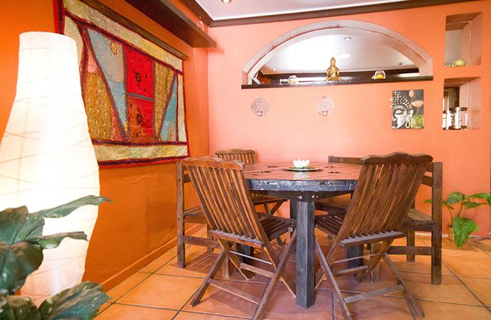 Lotus Lodge dining area