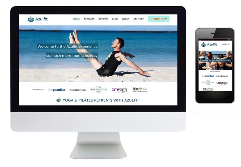 yoga retreat website design